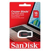 Флеш-накопитель Sandisk 16Gb USB2.0 Cruzer Blade Черный (SDCZ50-016G-B35)