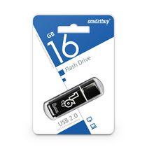 Флеш-накопитель Smartbuy 16Gb USB2.0 Glossy Черный (SB16GBGS-K)