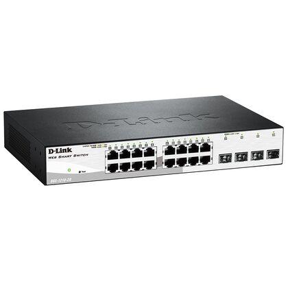 Управляемый коммутатор 16 портов WebSmart: D-Link DGS-1210-20 (16x10/ 100/ 1000Base-T, 4x 1000Base-X SFP)