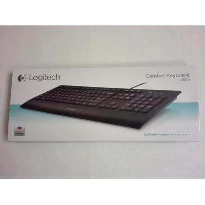 Клавиатура мультимедийная Logitech K280e, USB, черный (920-005215)